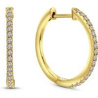 Gold plated oorringen met zirkonia 02.263Z.35