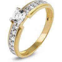 Gouden ring met zirkonia I2CR203756-FCZ