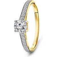 Geelgouden ring met zirkonia R01-SW-59241-Z