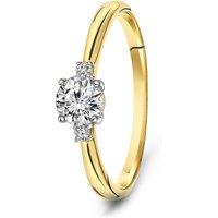Geelgouden ring met zirkonia 59588Z-Y