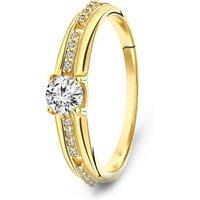 Geelgouden ring met zirkonia 59730Z-Y