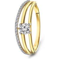 Geelgouden ring met zirkonia 59733Z-Y