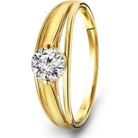 Geelgouden ring met zirkonia R03-59888-Z