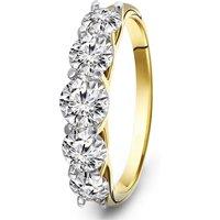 Gouden ring met zirkonia R03-59867-Z
