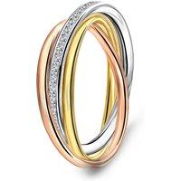 Tricolor ring met zirkonia 19376115