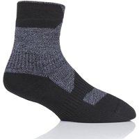 1 Pair Pack Grey 100% Waterproof Walking Thin Ankle Socks Mens Small - SealSkinz
