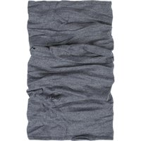 1 Pack Light Grey Melange Midweight Merino Wool BUFF Unisex One Size - Buff