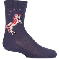 Girls 1 Pair Falke White Horse Cotton Socks