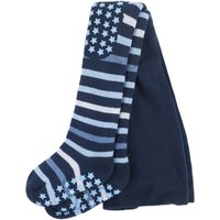 1 Pack Navy Multi Stripe Tights with Grips Kids Unisex 1-6 Months - Falke