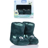 1 Pair Green Monster Slippers Kids Unisex 3-4 Years - Totes