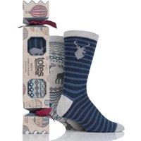 Mens 2 Pair Totes Christmas Novelty Socks