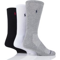 3 Pair Black / White / Grey Classic Sport Crew Socks Men´s 9-12 Mens - Ralph Lauren