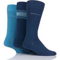 Mens 3 Pair Hugo Boss Combed Cotton Socks In Gift Box