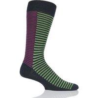 Mens 1 Pair Richard James Forain Split Stripe Merino Wool Socks