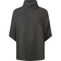 Ladies Great & British Knitwear 100% Lambswool Cowl Neck Cape