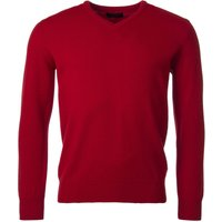 1 Pack Dubonnet 100% Lambswool Plain V Neck Jumper Reds Orange and Yellow Mens Small - Great and British Knitwear