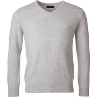 1 Pack Pearl Grey 100% Lambswool Plain V Neck Jumper Blacks and Greys Mens Extra Small - Great and British Knitwear