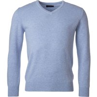 1 Pack Iceberg 100% Lambswool Plain V Neck Jumper Blue Shades Mens XX-Large - Great and British Knitwear