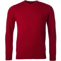 1 Pack Dubonnet 100% Lambswool Plain Crew Neck Jumper Red Orange and Yellow Mens Small - Great and British Knitwear