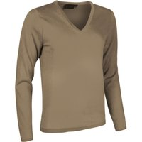 1 Pack Dark Natural Made In Scotland 100% Cashmere V Neck Browns and Greens Ladies Medium - Great and British Knitwear