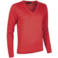 1 Pack Geranium Made In Scotland 100% Cashmere V Neck Whites and Reds Ladies Large - Great and British Knitwear