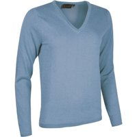 1 Pack Blue Haze Made In Scotland 100% Cashmere V Neck Blues Ladies Extra Large - Great and British Knitwear