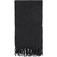 1 Pack Charcoal Great and British Knitwear 100% Cashmere Plain Knit Scarf With Fringe Unisex One Size - Great and British Knitwear