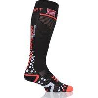 1 Pair Black Full Length V2.1 Compression Socks Unisex 2.5-5.5 Unisex (22-30cm Calf) - Feetures