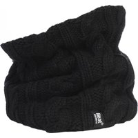 1 Pack Black 3.5 Tog Heatweaver Yarn Neck Warmer Ladies One Size - Heat Holders
