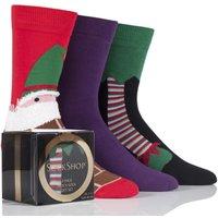 '3 Pair Elf Gift Boxes Men's 6-11 Mens - Wild Feet