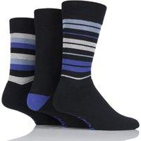 Mens 3 Pair Farah Cushioned Foot Striped Socks