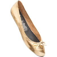 1 Pair Gold Gold Digger Rollable Shoes to Keep in Your Handbag, Car or Office Desk Ladies Small (3-4) - Rollasole