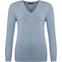 1 Pack Clearwater 100% Lambswool Plain V Neck Jumper Ladies Medium - Great and British Knitwear