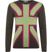 1 Pack Flint 100% Lambswool Union Jack Jumper Ladies Large - Great and British Knitwear
