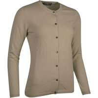 Ladies Great & British Knitwear Made In Scotland 100% Cashmere Golfer Cardigan Browns and Greens