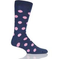 Mens 1 Pair Pringle of Scotland 6 Gauge Cotton Spot Design Socks