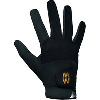 Mens and Ladies 1 Pair MacWet Short Mesh Sports Gloves Black 9