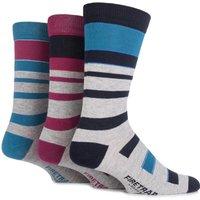 Mens 3 Pair Firetrap Mixed Striped Cotton Socks