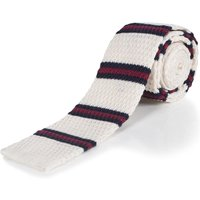 1 Pack Milky Way Striped Cotton Knitted Tie - Milky Way Men´s One Size - Moustard