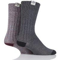Mens 2 Pair Tokyo Laundry Harv Twisted Yarn Chunky Boot Socks