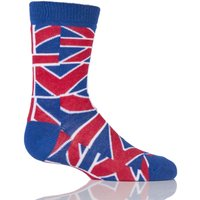 Kids 1 Pair Sockshop Union Jack Design Cotton Rich Socks