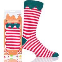 1 Pair Santas Elf Bamboo Santas Elf Christmas Gift Boxed Socks Unisex 4-8 Ladies - Lazy Panda