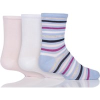Kids 3 Pair Sockshop Plain And Stripe Bamboo Socks
