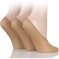 3 Pair Nude Soft Sheen Shoe Liner Socks Ladies 4-8 Ladies - SOCKSHOP