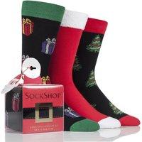 '3 Pair Christmas Tree Gift Boxes Men's 6-11 Mens - Wild Feet