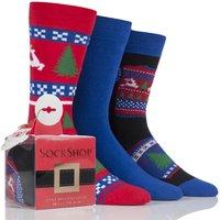 '3 Pair Christmas Jumper Gift Boxes Men's 6-11 Mens - Wild Feet