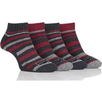 Mens 4 Pair Storm Bloc Performance Trainer Socks, Assorted