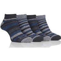 Mens 4 Pair Storm Bloc Performance Trainer Socks, Assorted