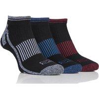 Mens 3 Pair Storm Bloc Trainer Socks, Black