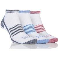 Mens 3 Pair Storm Bloc Trainer Socks, White